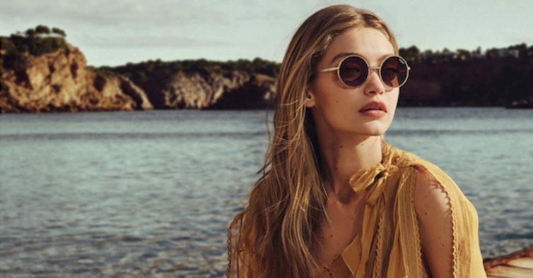 40b5b5c18 Gigi Hadid desenha nova coleção de óculos de sol