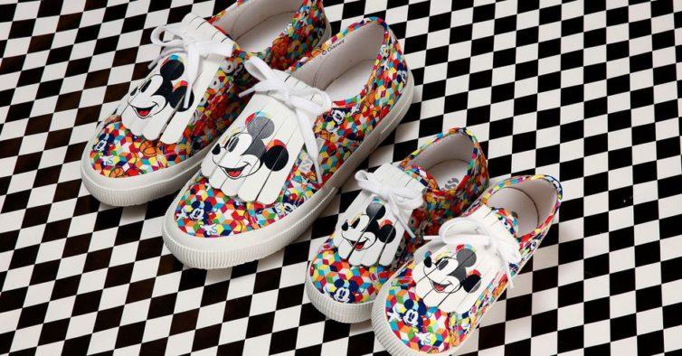 17b2e23732 A Superga tem umas sapatilhas do Mickey e da Minnie que são um mimo