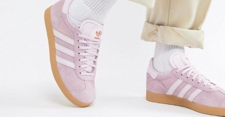 0538f048c0b Asos tem umas sapatilhas adidas Gazelle cor-de-rosa a metade do preço