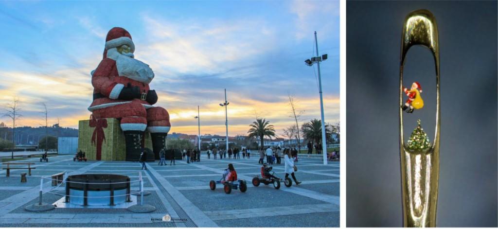 Le Portugal a le plus gros et petit Père Noël du monde