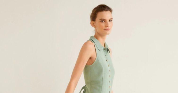 Vestido de linho (39,99€)