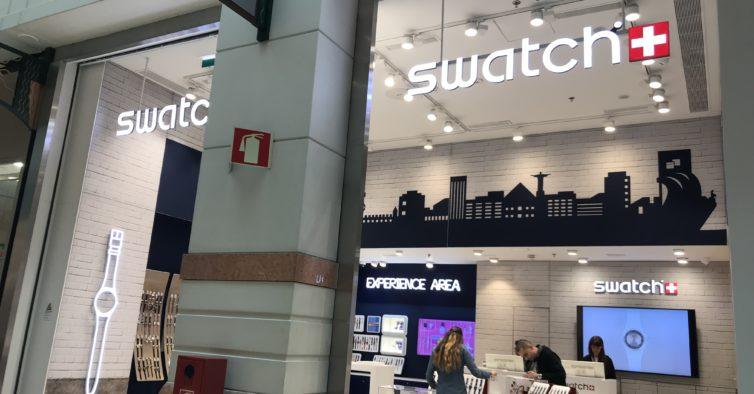 É a maior loja da Swatch em Portugal