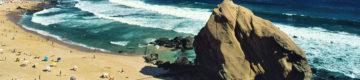 Praia de Santa Cruz interdita a banhos (outra vez)