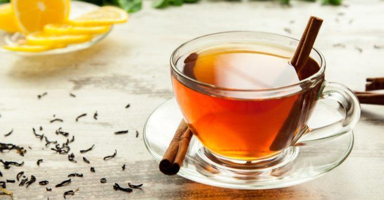 Chá de canela e gengibre