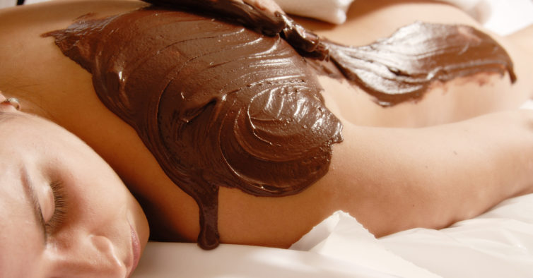 massagem de chocolate