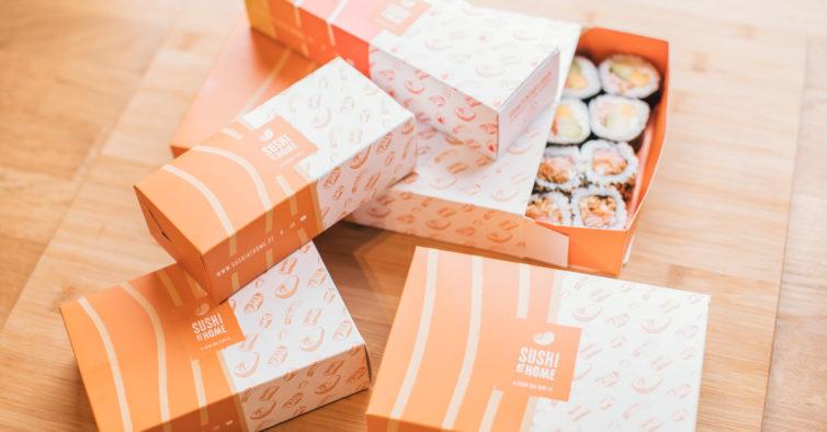 Adeus plástico: as caixas de entrega do Sushi At Home passam a ser de cartão