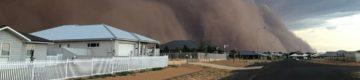 Austrália atingida por tempestades de pó que tapam o sol —  seguidas de granizo