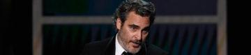 Depois de vencer o prémio de Melhor Ator, Joaquin Phoenix foi a um matadouro