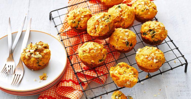 Os deliciosos muffins de batata doce e requeijão que vão mudar a sua vida