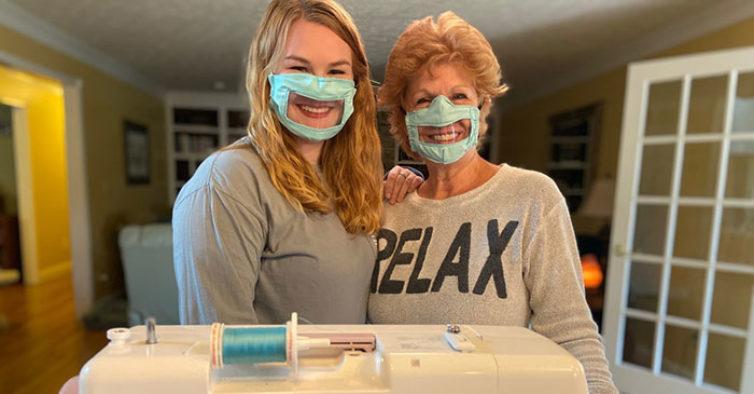 Estudante cria máscaras de proteção para os surdos lerem os lábios