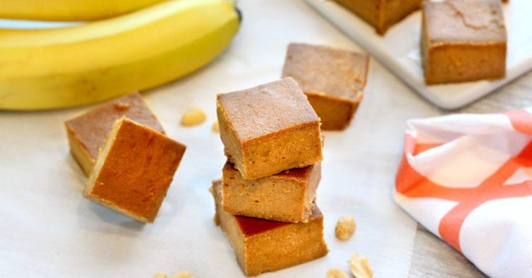 Fudge de banana (cada um tem cerca de 100 calorias)
