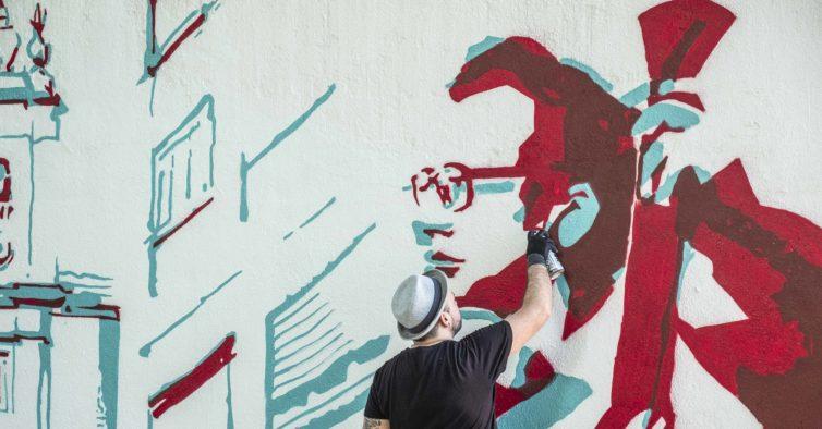De Nuno Markl a Carlos Paredes, Benfica pinta mural com as figuras da freguesia