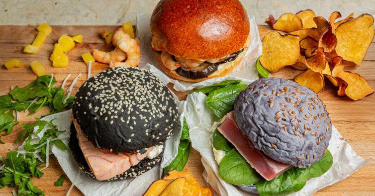 Há novos hambúrgueres de bacalhau e espinafres para experimentar no Crudo