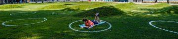 Lisboa já tem um parque com marcas na relva para manter a distância social