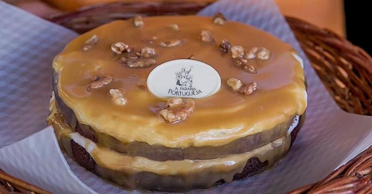 Só tem até domingo para provar o bolo de caramelo salgado d'A Padaria Portuguesa