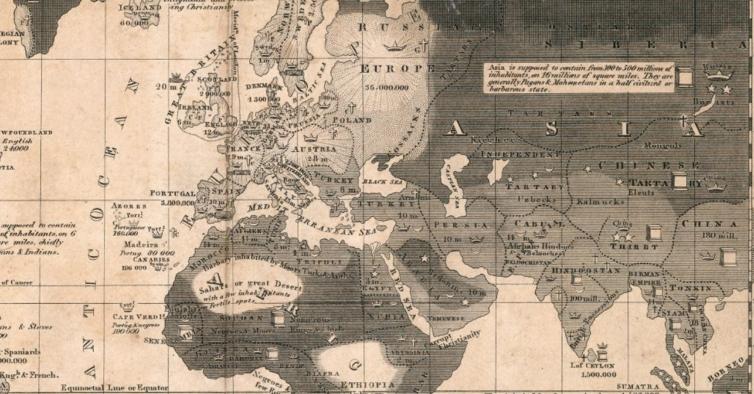 Mapa histórico revela como o mundo olhava para Portugal há 200 anos